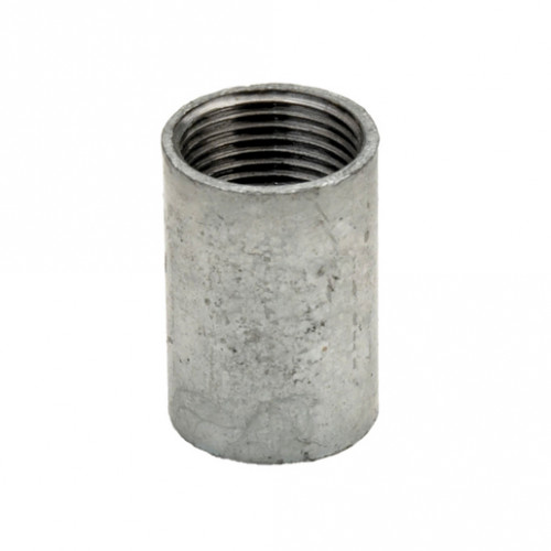 SOLID COUPLER GALVANISED 25MM x10