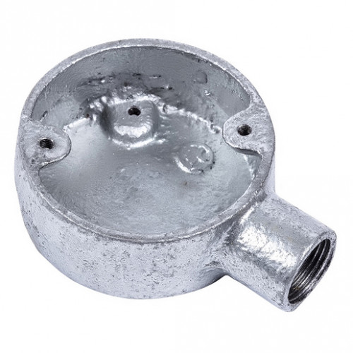 20mm 1 Way Stop End Galvanised Conduit Box x1
