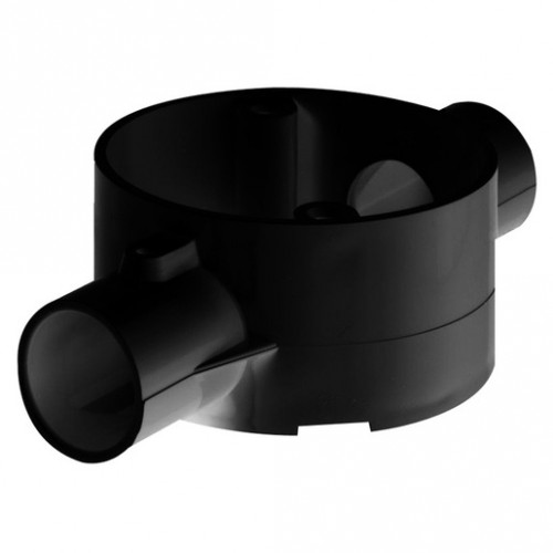 2-Way Through Box PVC 20mm Black