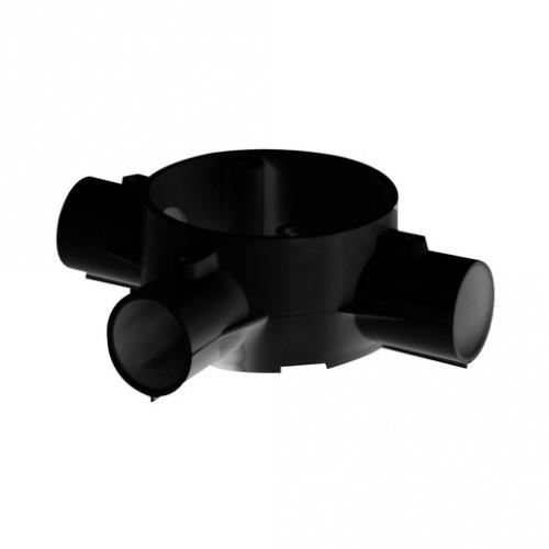 3-Way Tee Box PVC 25mm Black