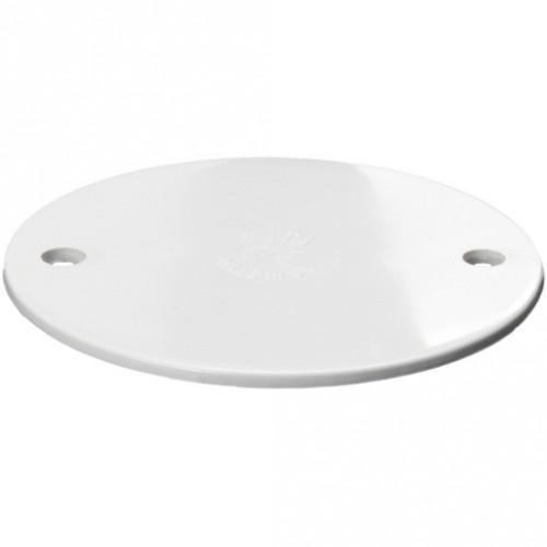 Circular Conduit Box Lid White
