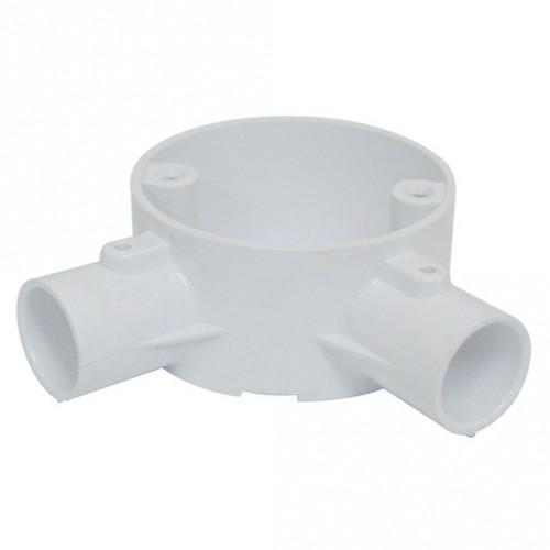 2-Way Angle Box PVC 20mm White