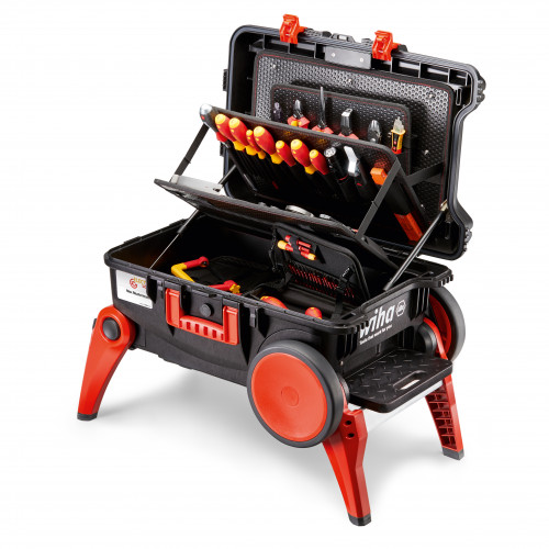 Wiha XXL 3 Competence XXL III Electrician's Tool Case Assorted Set 100 pcs 44128