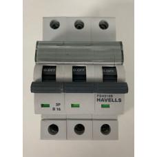 Havells 16A Triple Pole MCB Type B (Brand New)