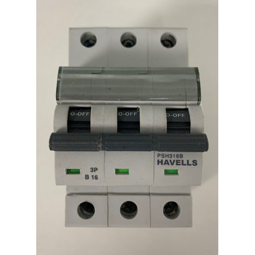Havells 16A Triple Pole MCB Type B (Brand New)