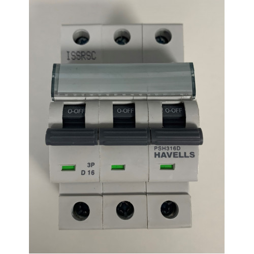 Havells 16A Triple Pole MCB Type D (Brand New)