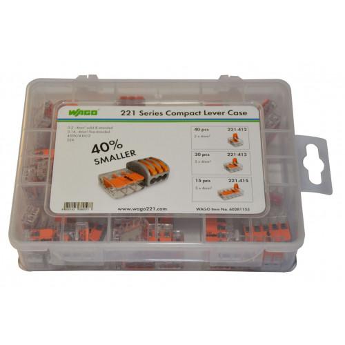 Wago 60281155 Compact Lever Case 221 - 85 Piece