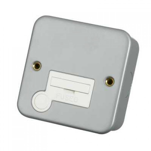 Click Scolmore CL050 Metal Clad 13A Fused Spur Connection Unit with Optional Flex Outlet