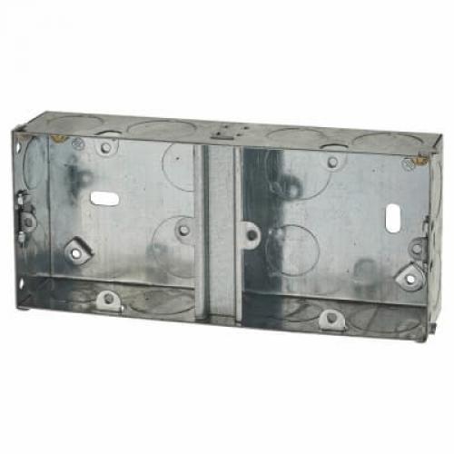 Switch/Socket Box Dual 25mm Metal PSB25D