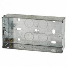 Switch/Socket Box 2G 25mm Metal
