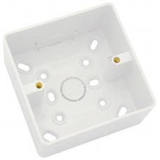 Univolt 1 Gang 32mm PVC LSF Round Cornered Surface Box