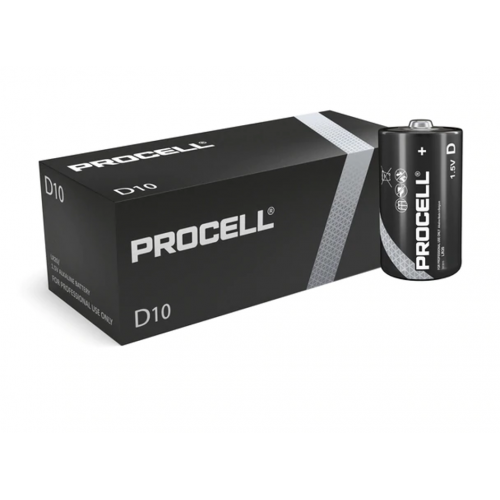 Duracell Procell Alkaline D Cell (Box Of 10)
