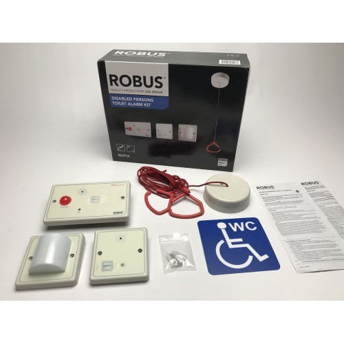 ROBUS RDPTA-01 DISABLED TOILET ALARM WHITE