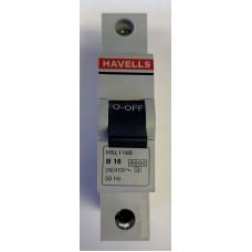 Havells 16A Single Pole MCB Type B (Brand New)