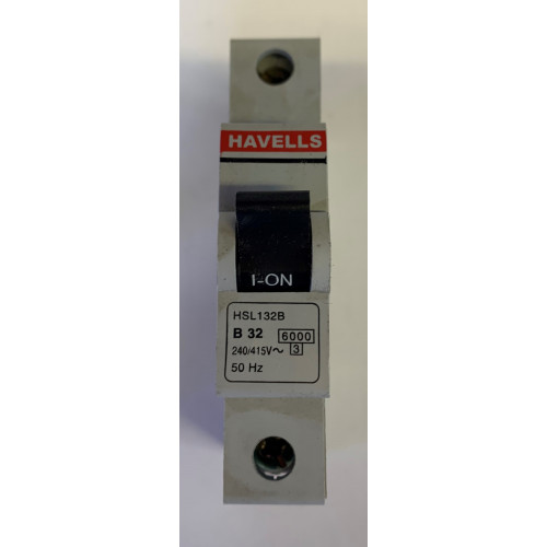Havells 32A Single Pole MCB Type B (Brand New)