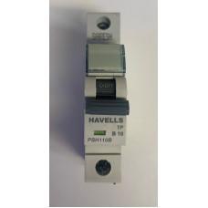 Havells 10A Single Pole MCB Type B (Brand New)