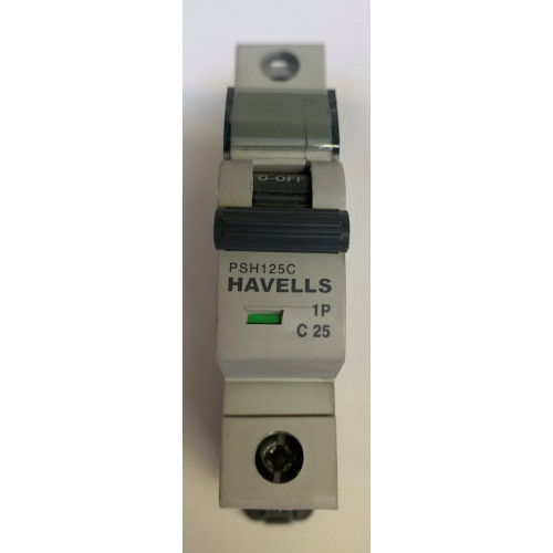 Havells 25A Single Pole MCB Type C (Brand New)