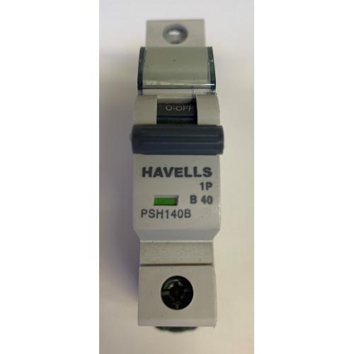 Havells 40A Single Pole MCB Type B (Brand New)