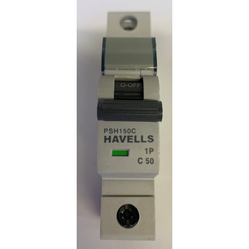 Havells 50A Single Pole MCB Type C (Brand New)