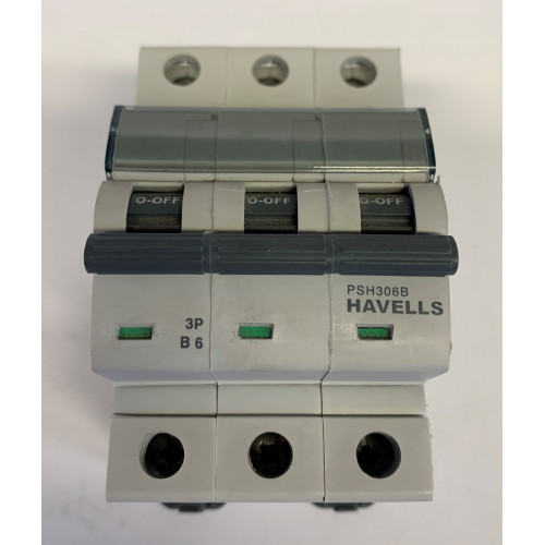 Havells 6A Triple Pole MCB Type B (Brand New)