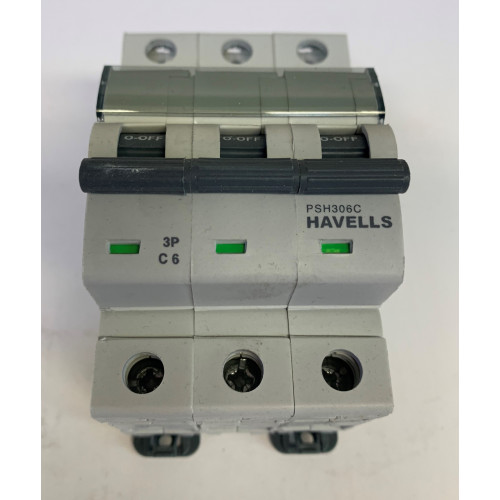 Havells 6A Triple Pole MCB Type C (Brand New)
