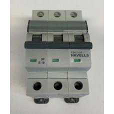 Havells 10A Triple Pole MCB Type B (Brand New)