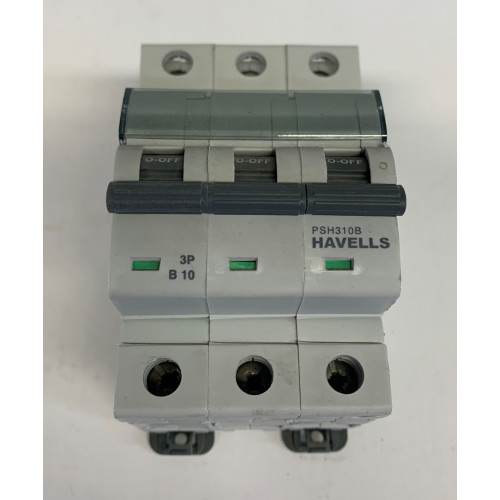 Havells 10A Triple Pole MCB Type B (Brand New)