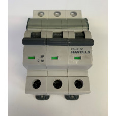 Havells 10A Triple Pole MCB Type C (Brand New)