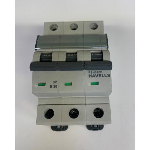Havells 20 Amp Triple pole MCB Type B (Brand New)