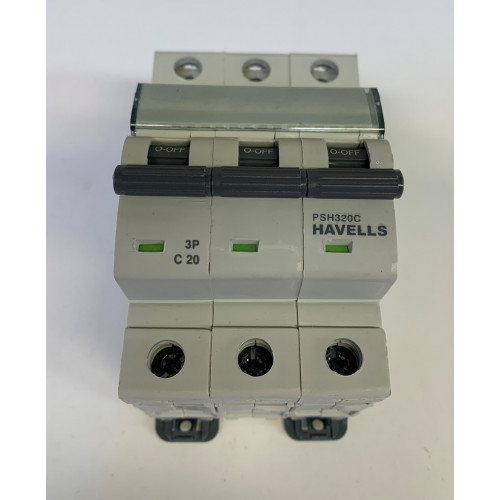 Havells 20A Triple Pole MCB Type C (Brand New)