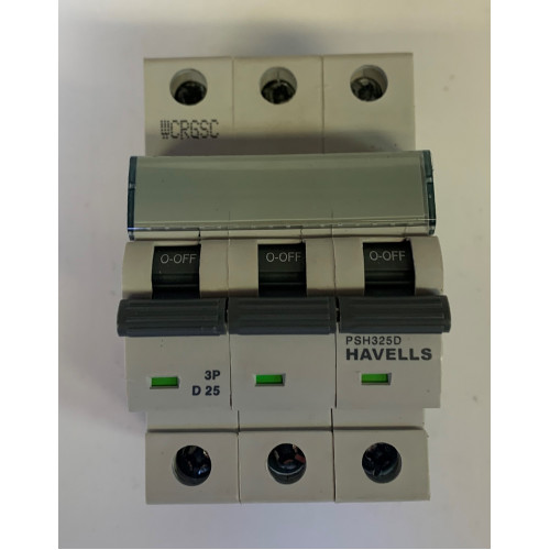 Havells 25A Triple Pole MCB Type D (Brand New)