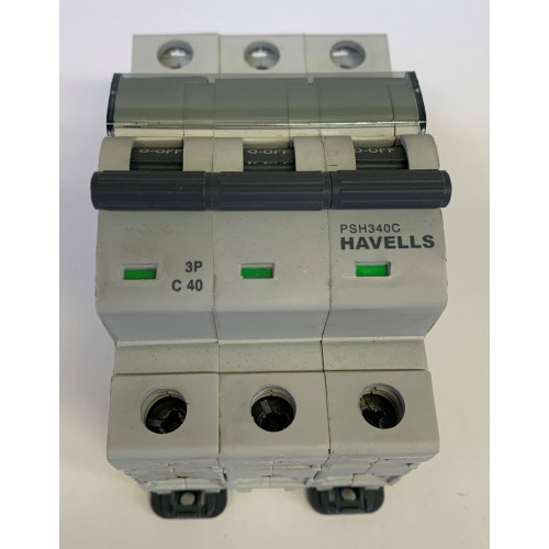 Havells 40A Triple Pole MCB Type C (Brand New)