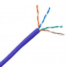 CAT5E CABLE UNSCREENED 305M PURPLE SOLID (305m)