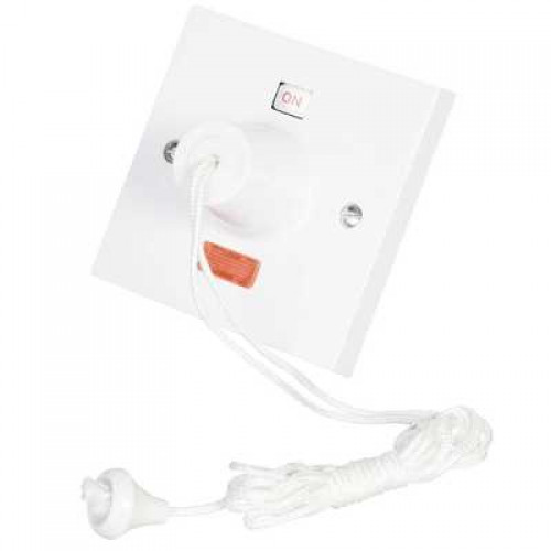 Click Scolmore Click Polar 45A DP Ceiling Pull Cord Switch with Neon White