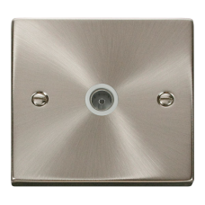1G COAXIAL TV SOCKET O/LET WHITE INSERT