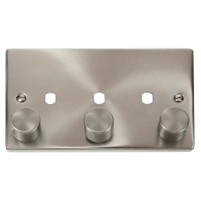CLICK VPSC153PL 3G DBL DIMMER PLT & KNOB