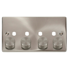 CLICK VPSC154PL 4G DBL DIMMER PLT & KNOB