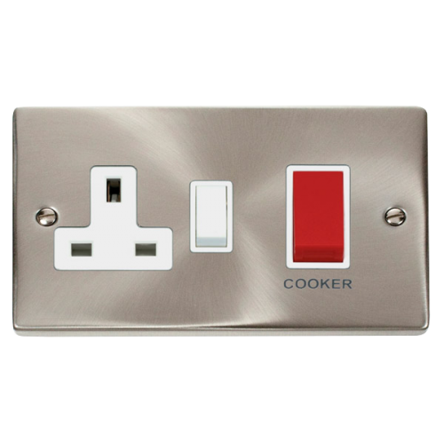 COOKER PLATE WITH 45A DP SWITCH & 13A DP