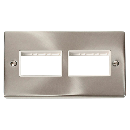 CLICK VPSC406WH FRONTPLATE 2G 6APERTURE