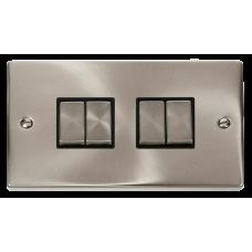 CLICK VPSC414BK PLATESWITCH 4G 2W 10A SC