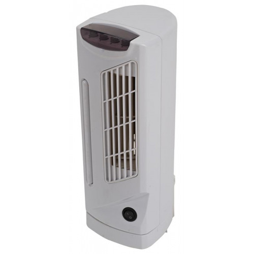 "Pro - Elec 14"" Mini Tower Fan with 3 Speeds & Oscillation Function, White - PEL01202"