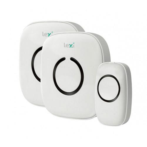 44004PI Twin Wireless Plug-in & Battery Doorbell – 1 Transmitter + 2 Receiver