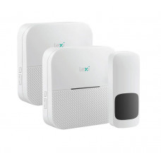 Twin Wireless Plug-in & Battery Doorbell 1 Transmitter + 2 Receivers 300M Range