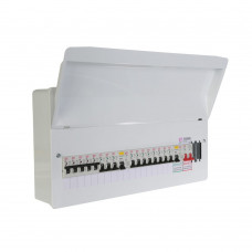 FuseBox 17 Usable Way Split Load Populated Consumer Unit 2 X 80A RCD + 16 MCB