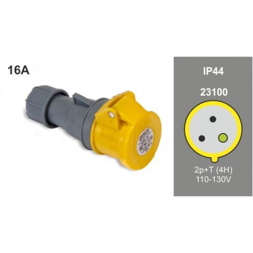 FAMATEL IP44 16A 110V 2P+E CONNECTOR