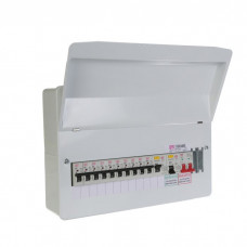 FuseBox 11 Usable Way Split Load Populated Consumer Unit 2 X 80A RCD + 10 MCB