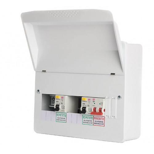 Fusebox 7 Way Split 2X80A Rcd Consumer Unit