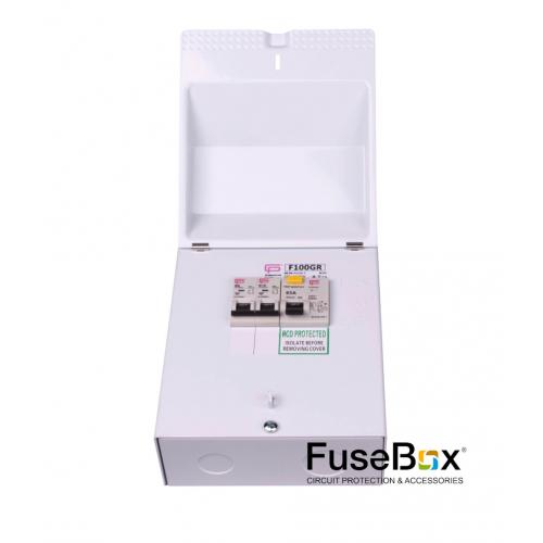 Fusebox Garage Unit 63A Rcd 1X6A 1X16A