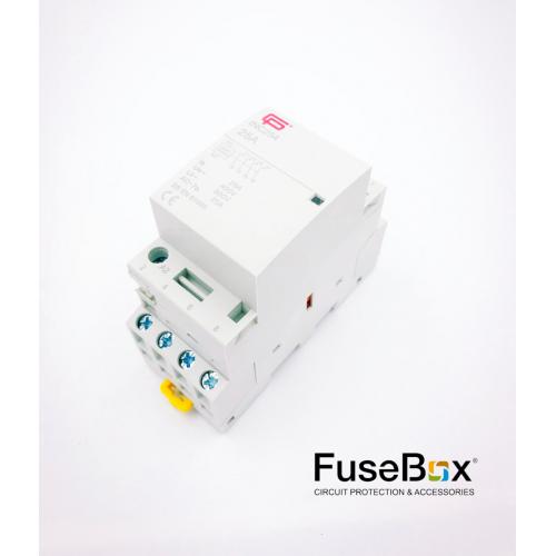 Fusebox 25A 4P N/O 230V Contactor