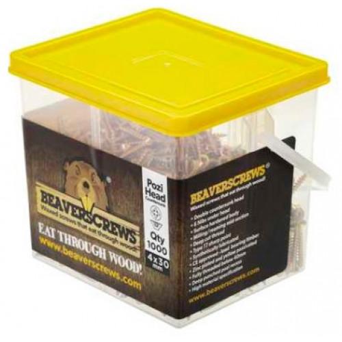 Beaverscrews 8 x 1¼ High Performance Woodscrews (Tub of 1000)